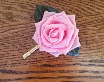 Pink rose Boutonnieres, Wedding Boutonniere, Elegant boutonniere, pink boutonniere, pink rose boutonniere, groomsmen