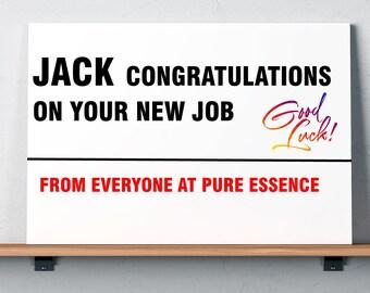 New Job Personalised Street Sign