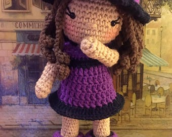 Eva Doll -  amigurumi dress up doll crochet pattern with 3 outfits