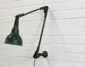 Industrial Wall Mounted Task Lamp By Autax Langham Circa 1960's