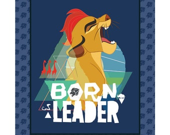 Disney Lion Guard Fabric Panel Born Leader From Camelot 100% Cotton