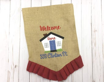 Welcome Home - Applique - 3 sizes included - 4 x 4, 5 x 7 and 6 x 10 - DIGITAL Embroidery Design