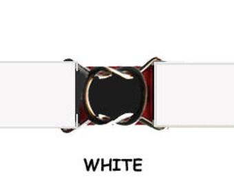 STRETCH-ELASTIC-BELT - White * 3-Sizes for Kids & Adults *  Adjustable on Both Sides