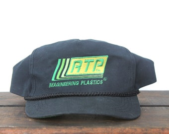 Vintage RTP Imagineering Plastics Cloth Back Trucker Hat Snapback Baseball Cap