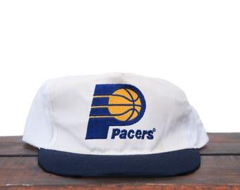 Vintage Indiana Pacers Basketball NBA Trucker Hat Snapback Baseball Cap