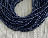 2-3mm Navy Blue Coconut Shell Pucalet Rondelle Beads Dyed and Waxed 15 inch strand