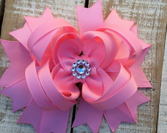 Pink Boutique Bow - Light Pink Hair Bow - Pink Headband