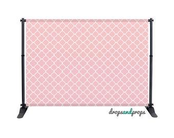 Soft Pink Quatrefoil - Photography Backdrop