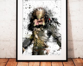 Predator - Limited edition print 210 x 297 mm, numbered and signed.