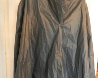 ITEM Of The WEEK - SALE - French Vintage Raincape - French Fashion Raincoat- Raincape - With Hood - Blue Grey Colour
