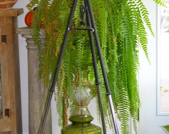 Two Toned Tripod Upcycle Floor Lamp