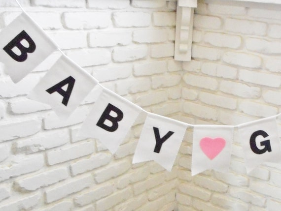 It's a Girl Banner - Custom Colors - Baby Girl - Baby Shower Bunting - New Baby Sign - Pregnancy Announcement - Gender Reveal Decorations