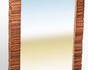 Reclaimed Wood Mirror, Wood Mirror, Rustic wood mirror, Modern Wood Mirror
