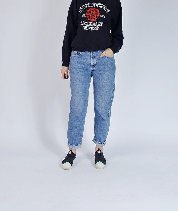 SALE - 80s CREEM Blue Denim Boyfriend Fit Mom Jeans Made in Italy / Size 31