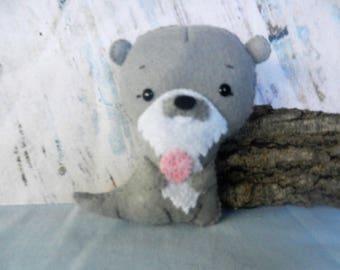 Felt Otter Softie Plushie Doll by Noialand