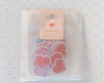 Valentine heart Kawaii Sticker Sack flake