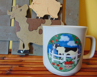 Cow Mug / Cow in Cherry Orchard Mug