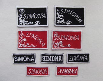 Custom embroidered Name tags ,name patch, sew on. BUY 5 GET 1 for FREE !!!