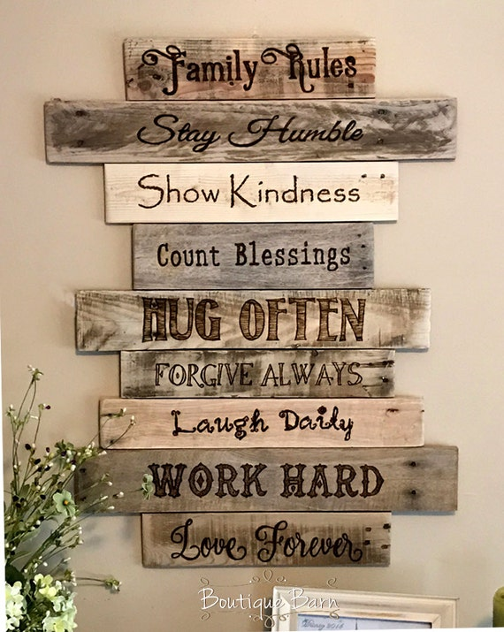 Familyfamily Signwood Signswall Artfarmhouse Decorwoodrhetsy: Farmhouse Decor For The Home Wood Signs At Home Improvement Advice