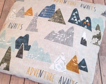 Adventure Awaits Minky Baby Blanket - Made To Order