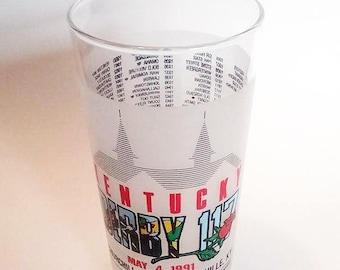 1991 Kentucky Derby Mint Julep Glass