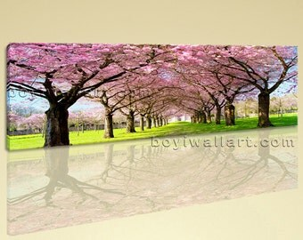 Large Tree Landscape Photography Painting Giclee Printed On Canvas Living Room, Large Tree Wall Art, Living Room, Dark Rum