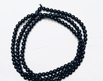 Wood Bead Wrap Necklace Black