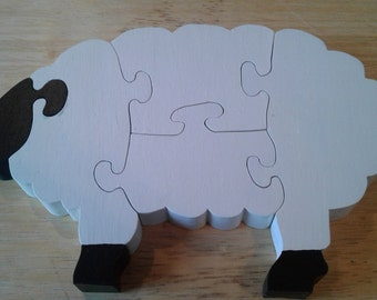 Simple Wood Sheep Puzzle