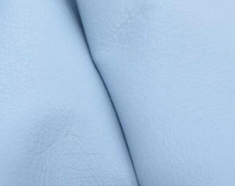 """Charming Baby Blue """"Signature""""  Leather Cow Hide 4""""x 6"""" Pre-Cut 2-3 oz flat grain  DE-53011 (Sec. 8,Shelf 6,D,Box3)"""