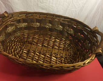 M009 basket wicker brown