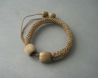 Antique Victorian braided hair memory bracelet.