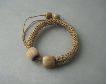 Antique Victorian braided hair memory bracelet.