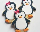 1 DOZEN - Baby Shower Winter Onederland Onderland Penguins 1st Birthday Girl