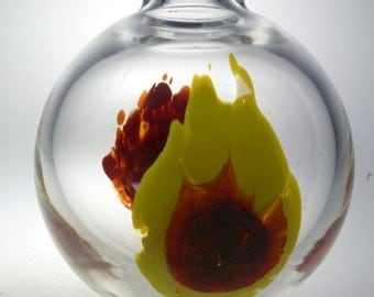 Czech art glass vase Suhajek MOSER