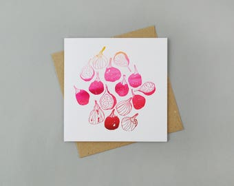Limited Edition Letterpress Card 'Figs'