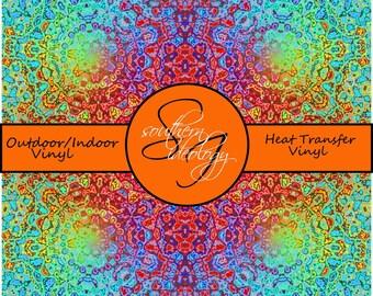 Mandala Patterned Craft Vinyl and Heat Transfer Vinyl Pattern 558
