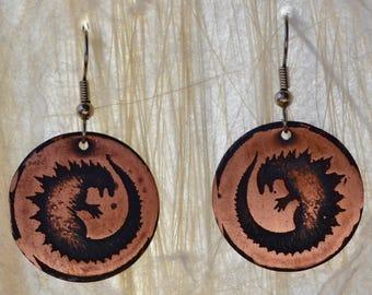 Godzilla Earrings