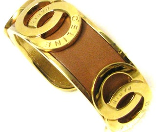 CELINE, beautiful bracelet open plated gold vintage