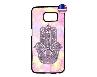 Evil Eye Cute Hamsa Hand Guard Hard Rubber TPU Case Cover For Samsung Galaxy S8 S7 S6 Edge Plus S5 S4 S3 NOTE 5 4 3 2 iPod Touch 4 5 6