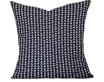 Indigo Vine Decorative Pillow Cover - Throw Pillow - Both Sides - 10x20, 12x16, 12x20, 14x18, 14x24, 16x16, 18x18, 20x20, 22x22, 24x24
