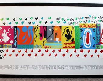 Mid Century Modern Signed Henri Matisse The Thousand and One Nights Print 1974