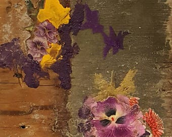 Original Mixed Media Art Collage - Color Purple