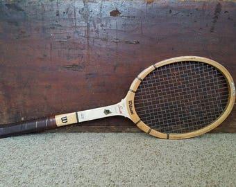 Vintage Wooden Wilson Tennis Racket Racquet 70s