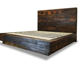 Rustic Box Bed Frame