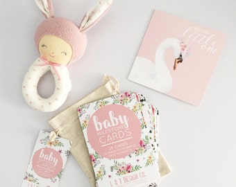 Sweet Floral ~ Baby Milestone Cards