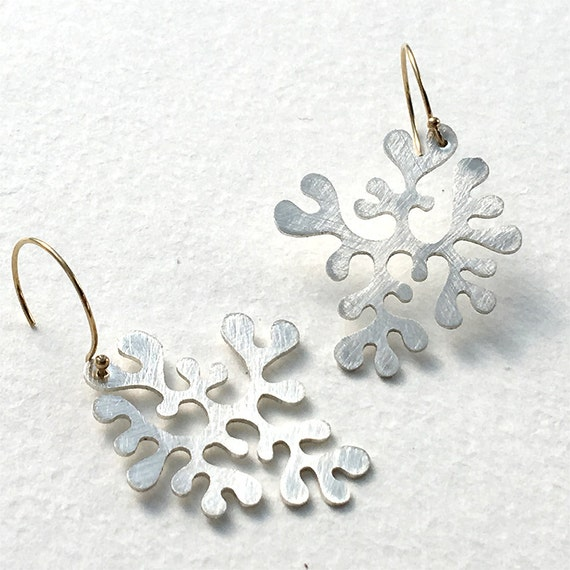 Lichen Drops No. 1 in Recycled Sterling Silver & 14k Gold Fill {Bright}
