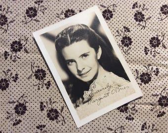 "MARGARET O'BRIEN, Original 1940s ""Signed / Autograph"" RP Real Photo Movie Star Studio Portrait."