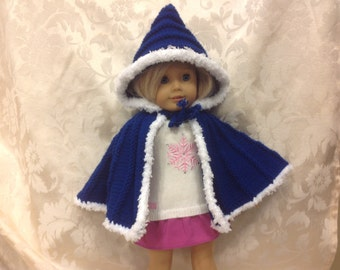 American girl doll hooded cape