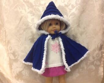 American girl doll hooded cape