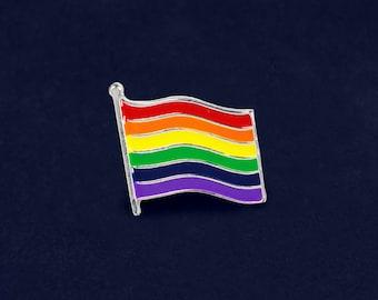 Rainbow Flag Pin in a Bag (1 Pin - Retail) (RE-RBP-04)